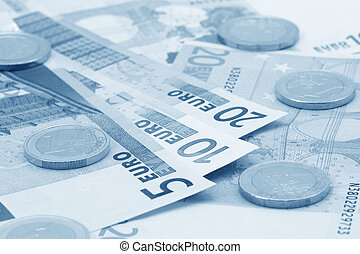 Euro's banknotes and coins