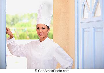 Chef in doorway