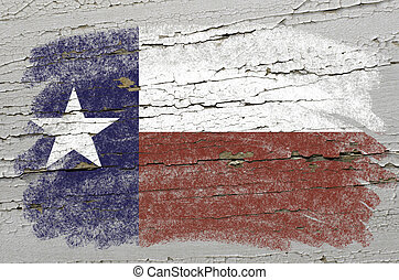 Chalky american state of texas flag precisely painted with...