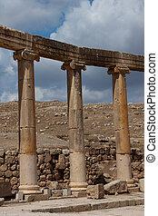 Oval Plaza in Jerash, Jordan