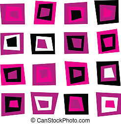 Retro seamless background or pattern with pink squares -...