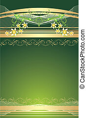 Ornamental background for card