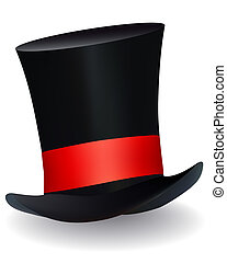 hat hat with a red ribbon
