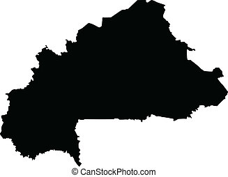 Vector illustration of maps of Burkina Faso