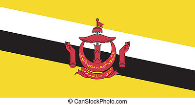 Vector illustration of the flag of Brunei