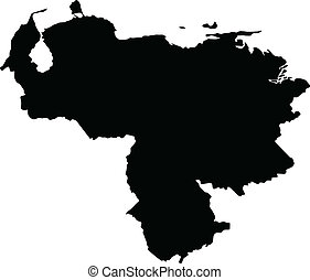 Vector illustration of maps of Venezuela