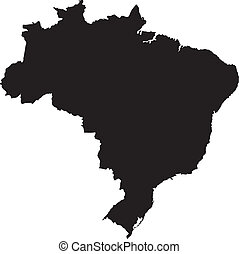 Vector illustration of maps of Brazil