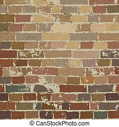 Old brick wall pattern Vector illustration, EPS10