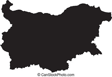 Vector illustration of maps of Bulgaria