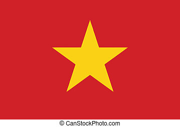 Vector illustration of the flag of  Vietnam
