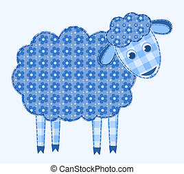 Application sheep. Patchwork series. Vector illustration.