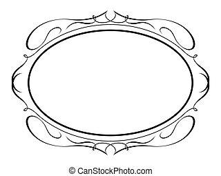 calligraphy ornamental penmanship decorative frame - Vector...