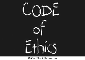 Code of Ethics text with blackgroun