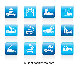 car and automobile service icon