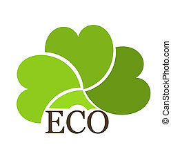 Eco symbol - Eco concept creative design Vector illustration...