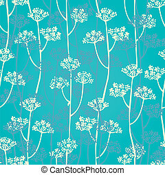 Floral branch seamless pattern - Vector background from...