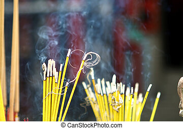 Incenses in a chinese temple