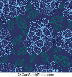 pattern with flowers - Vector seamless floral pattern with...