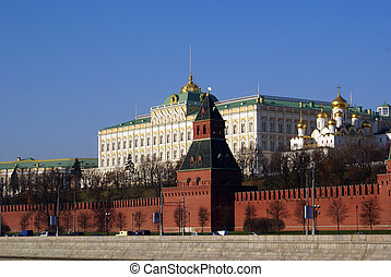 Big palace and Kremlin in Moscow, Russia