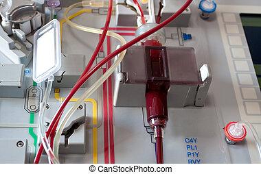 device stem cells transplantation - Close-up of medical...