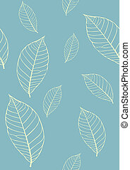 Seamless vector texture with leaves