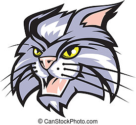 Wildcat - Mascot art of a wildcat