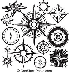 Compass Collection - Clip art collection of compass icons...