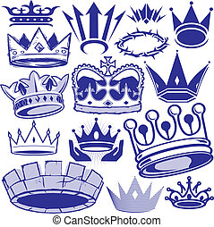 Crown Collection - Clip art collection of crown icons and...