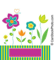 variegated - background with colorful flowers in the style...