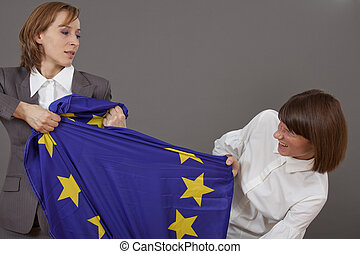 fight over european flag
