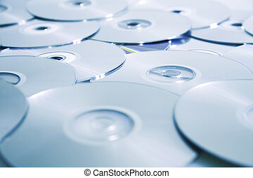 Background from compact disks with the written information