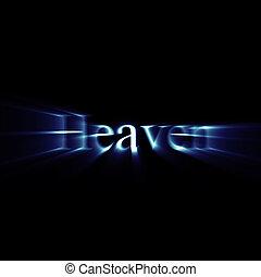 發光, 天堂, 詞