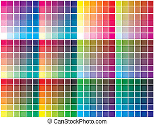 Vector color palette - Color chart for prepress, printing...