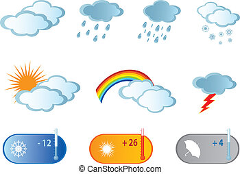 Weather Icons. Vector illustration for you design