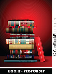 Pile of books - Illustration of pile of books.