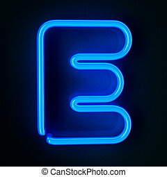 Neon Sign Letter E - Highly detailed neon sign with the...