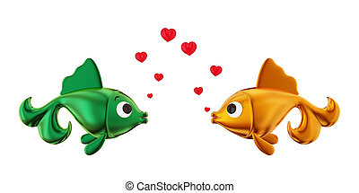 Loving couple of fishes.