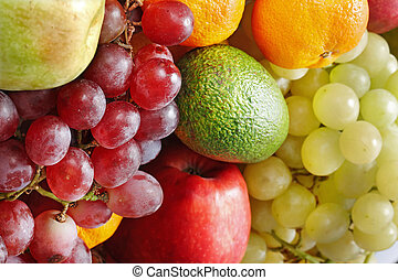 Group of colour fruit.