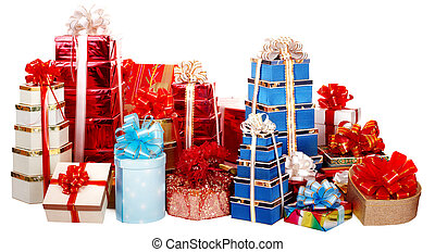 Group of colour gift box.