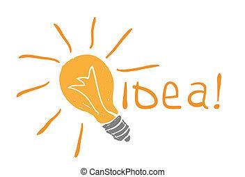 bulb drawing. idea concept