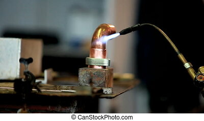 tinsmith - Soldering copper pipe