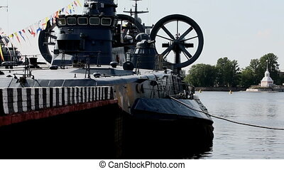 warship - amphibious military hovercraft