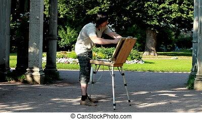 artist - Artist at work
