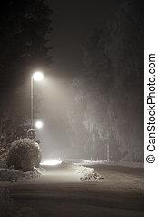 Streetlight - street light in suburban area at night