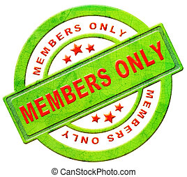 members only restricted area vip access membership icon or...