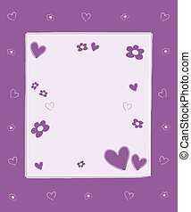 Hearts flowers frame