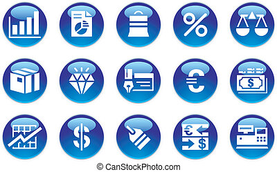 Business & Finance Icons Set on white background.