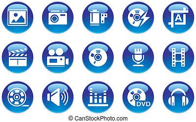 Audio/Video/Photo Icons Set