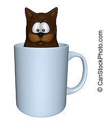 té, gato