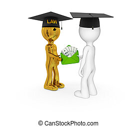 Lawyers and money pack - 3d small people. Lawyers and money...